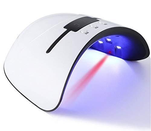 Maniküre und Pediküre LED UV Nagellampe Professionelle Gellack Trockner UV LED Licht 3 Zeitvoreinstellungen 30s, 60s, 99s + Smart Auto Sensor & Schnell Aushärtung mit großem LCD Timer Display - Weiß Express Laptop-lcd