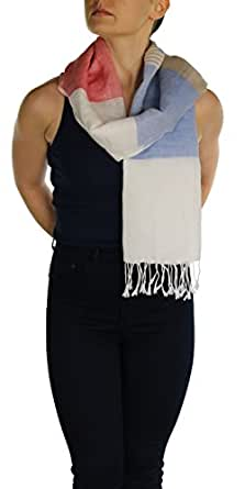 York Shawls Women's Scarf Shawl Wrap Stole Pashmina – Handmade with a Free Hanger – Available in 2+Colours (Bluebell)