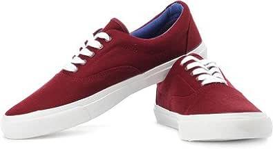Benetton Men's Red Denim Canvas Shoes