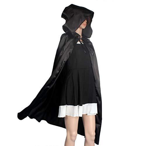(TIFIY Halloween Damen Herren Cosplay Kapuzen Mantel Vertuschen Strand Kostüm Zubehör Party Strand Kleidung Horror Tunika Schwarz/Rot)