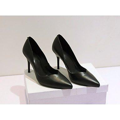 SANMULYH Scarpe Donna Primavera Autunno Comfort Tacchi Stiletto Heel Punta Per Il Casual Bianco Nero Nero