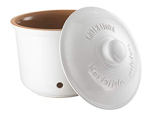 Römertopf Kartoffel-Topf, Keramik, Weiß, 3 Kg