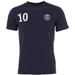 T-Shirt Neymar JR N°10 PSG - Licence Officielle - Bleu. Taille EU - XL