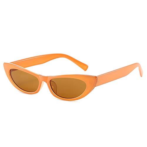 FIRM-CASE Frauen Sexy Katzenaugen-Sonnenbrille Kleines Rechteck Vintage-Sonnenbrillen Retro Cateye Brillen Schwarz Sunglass, 5