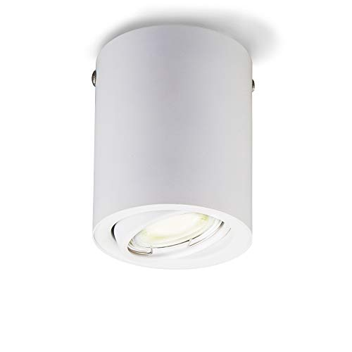 Foco de techo LED integrado para interior incl. bombilla 5W GU10, Luz...