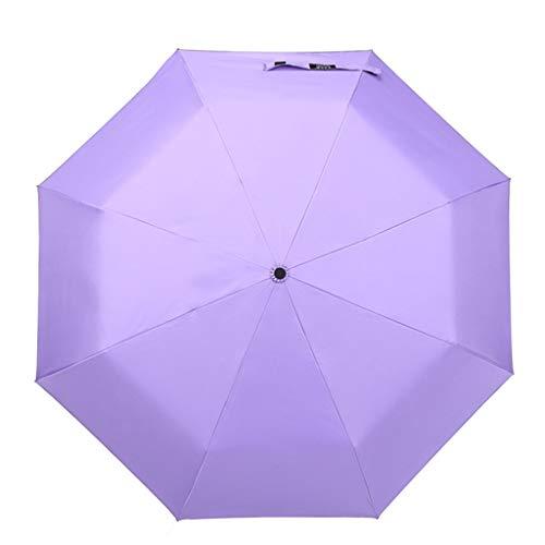 GONGFF Umbrella \u0026 Folding Vollautomatische Falten Sunny Rain Dual Use Vinyl Shade Sonnencreme Three Fold Sun (Farbe: C)