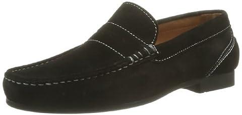 Sebago Mens Trenton Penny Loafers, Black, 6 E US