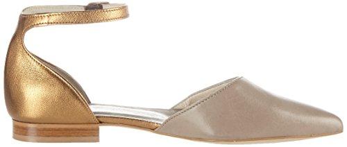 Marc Shoes Damen Pisa Slingback Ballerinas Mehrfarbig (Sauvage- Metallic taupe-br.)