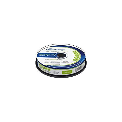 MediaRange MR430 mini Inkjet Full Printable DVD-R Rohlinge (1,4GB, 10-er Spindel) 1,4 Gb Mini-dvd