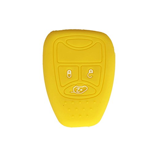 ezzy-auto-new-yellow-skin-key-cover-silicone-key-jacket-holder-bag-for-dodge-charger-magnum-chrysler