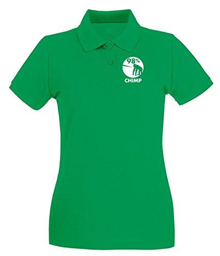 T-Shirtshock - Polo pour femme FUN0103 05 03 2013 98 Percent Chimp T SHIRT det Vert
