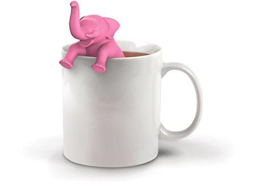Fred & Friends sous Le thé Infuseur à thé, Silicone, Rose, 11 x 4.3 x 4.5 cm