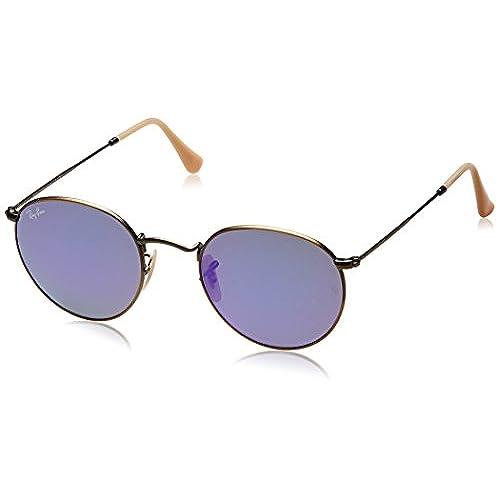 Ray-Ban Unisex Sonnenbrille RB3523, Gr. Large (Herstellergröße: 59), Mehrfarbig (Gestell: Gold/Braun, Gläser: Kupfer Verspiegelt 112/2Y)