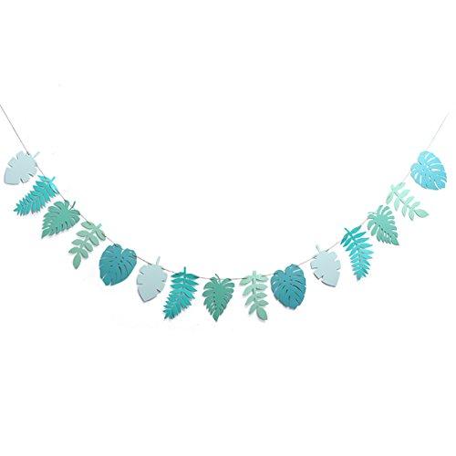 ty Favors tropische Bunting Banner verlässt Luau Party Supplies Dekorationen 2,6 m (gefälschte Blätter) ()