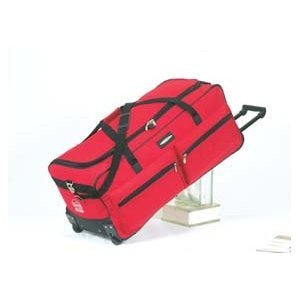 Jeep Wheeled Holdall 31 inch Luggage Bag with Wheels Red 543R