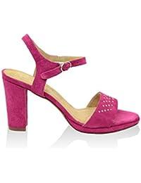 GIORGIO PICINO Damen- 7196233_Calf_Mousse_Fuchsia-Sandalen Glattleder Kaufen Online-Shop