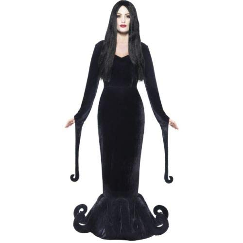B-kreative Frauen Herzogin des Schlosses Adams Familie Morticia Fancy Kleid Halloween (MEDIUM UK 8-10)