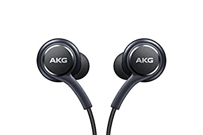 Genuine Samsung Earphones Tuned by AKG - black, Tangle Free Fabric Cable, Clear & Balanced Audio Tuned By AKG, In-Line Controls, EO-IG955