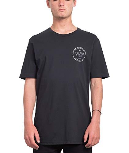 Volcom Herren Chop Around BSC S/S T-Shirt, Black, L - Großer Mann Crewneck T-shirt