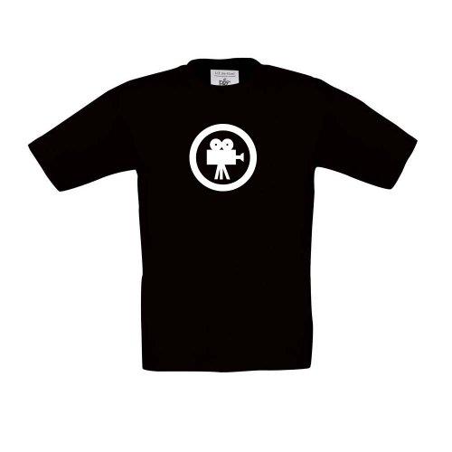 (Film - Movie - Kinokamera, Kinder T-Shirt, Größe 152 - 164, schwarz)