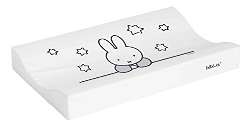 Bébé-Jou Miffy Stars - Cambiador plastificado, 72 x 44 cm, color blanco