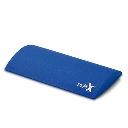 softX® Lordosenkissen blau, mit Coating, Größe ca. 40 x 22 x 4,5 cm