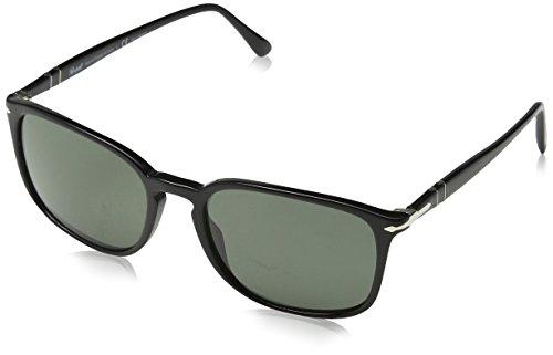Persol Herren 3158 Sonnenbrille, Schwarz (Black/Polargreen), 56