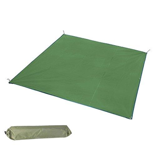 Triwonder camping tent tarp footprint outdoor amaca impermeabile rain rain rainfly cover parasole shelter groundsheet baldacchino coperta mat (84,6 x 84,6 pollici, verde)