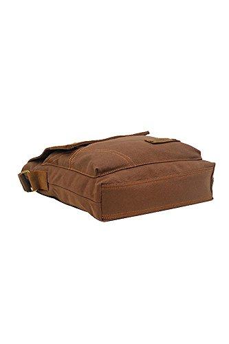 Vococal® Herren Wasserdicht Leinwand Schultertaschen Crossbody Messager Taschen - Männer Outdoor Tragbare Kleine Umhängetaschen, Braun #3