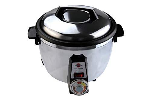 Orientalischer Reiskocher Pars Khazar RCW-271 TS für 12 Personen, für knusprigen Reis Tahdig-Methode, Edelstahl