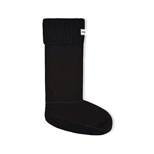 Hunter Rib Cuff Boot Sock Medium (UK 3-5) Black (Socks Boot Welly)