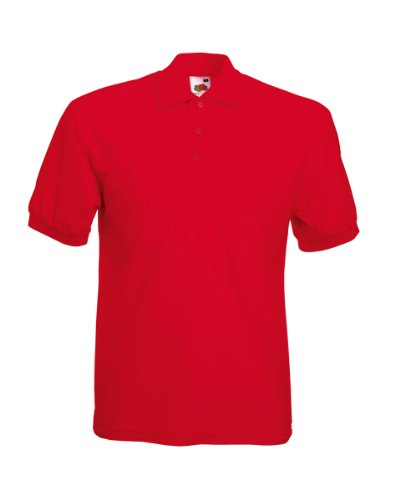 Polo-Shirt * 65/35 Polo * Fruit of the Loom Farbe rot Größe L -