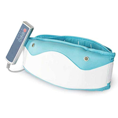 LLYY® Bauchmuskelgürtel für Fitness Gürtel Abnehmen, Elektrisch Slimming Belt Heizung Gürtel Abnehmen 6 Geschwindigkeiten/Massage Fettabbau Gürtel(Blau)
