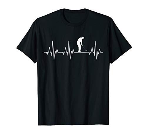 Geburtstag Golf Shirt (Golf Herzschlag T-Shirt Golfer Golfsport Golfplatz Golfshirt)