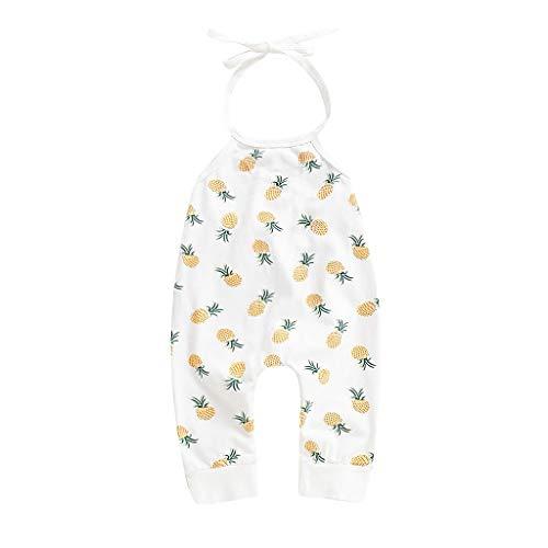 Banana Kostüm Rock - squarex Infant Baby Sleeveless Pineapple Banana Print Backless Strampler Jumpsuit Sommer Bequeme und lässige Freizeitkleidung