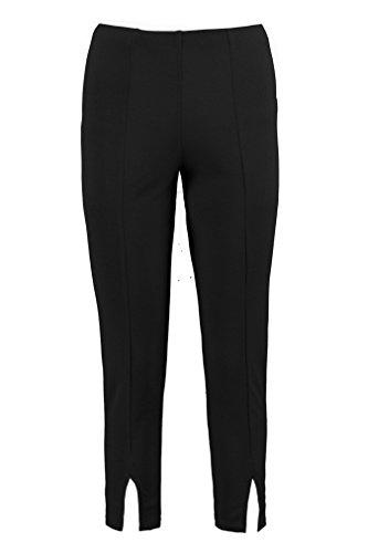 Noir Femmes Petite Alana Pantalon Court Taille Haute Fendu Devant Noir