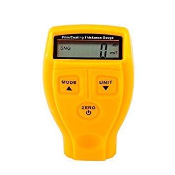 Jajadeal Schichtdickenmessgerät, mini Digital Schichtdicke Meter, Dicke Gauge Messung-mit LCD Display Wireless Tester 0-1,80 mm/0-71,0 Mil für Auto Malerei Verarbeitung Metall Arbeiten (Thickness Tester Paint)
