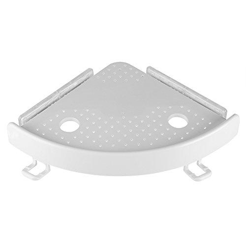 Dewin Mensola angolare Multifunzione per Doccia Supporto per Angolo Gancio e Ventosa PVC per Bagno Cucina