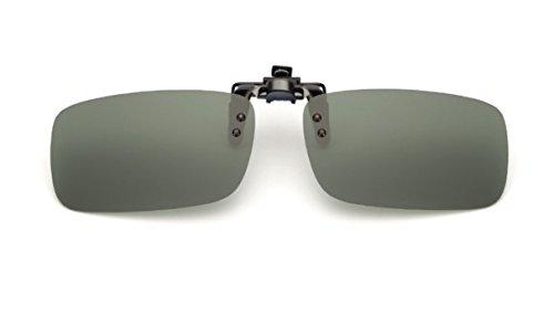 UK1stChoice-Zone Polarisierte Unisex Sonnenbrillen Klipp auf Sonnenbrille Gläsern Brille Sun-ClipON0002 (Grün)