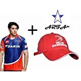 Combo - 1 DD (Delhi Daredevil) IPL T-Shirt & 1 DD Cap For 16 - 20 Years Boy Or Girl By Aaina ARFA.