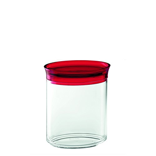 Guzzini plastique Jar Latina ovale 50cl, Rouge