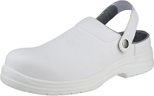 Amblers Safety Mens FS512 White Clog Waterproof Safety Shoes White white