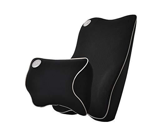 Wentsven - set di supporto lombare e cuscino cervicale per auto, ergonomico, in memory foam