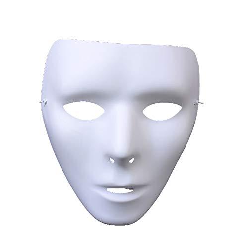 JIEPAI Halloween Maske TäNzer Geist Tanz Schritte Nacht Street Dance Maske Weiß Street Dance Maske TäNzer Hip Hop Maske (Hop Hip Halloween-nacht)