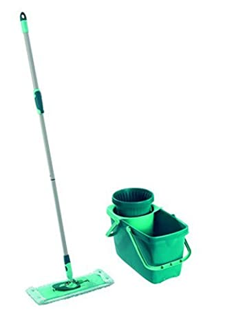 Leifheit Clean Twist Spin Mop System with Bucket and Flat Mop Head by Leifheit
