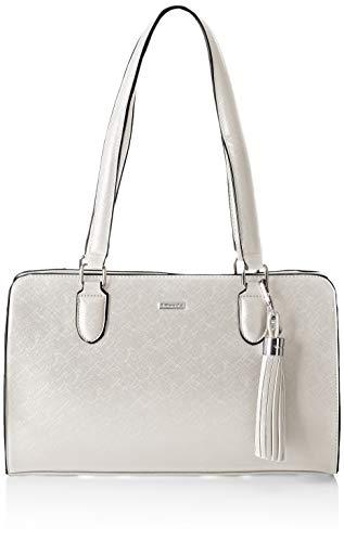 Tamaris Damen Maxima Shoulder Bag Schultertasche, Silber (Silver), 11x24x35.5 cm
