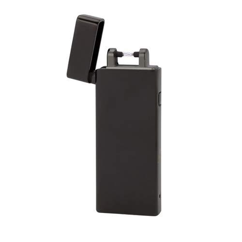 TESLA Lighter T04 | elektronisches USB Slimline Lichtbogen-Feuerzeug, Schwarz