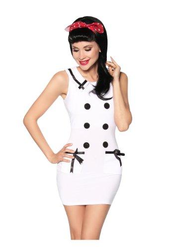 Beautiful mini robe style bleu marine-look Blanc - blanc