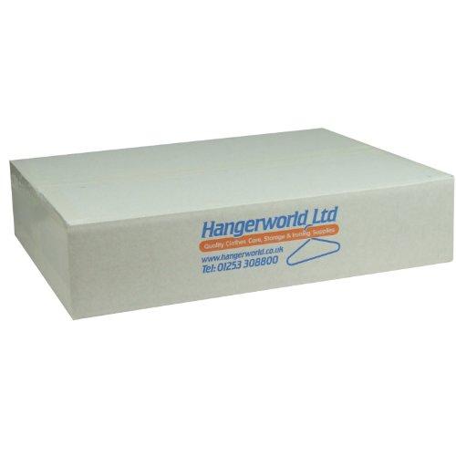 Hangerworld 100 Perchas 46cm Extra Grandes Metal Ahorra Espacio Tintorerías Ideal para Camisas