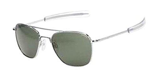 Randolph Engineering Aviator Bright Chrome Sunglasses - AGX PC Skull 52MM